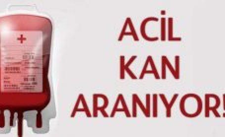 ACİL BRH(+) KAN ARANIYOR